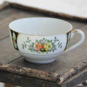 60s Vtg Noritake China Cup Floral Gold Rim Japan